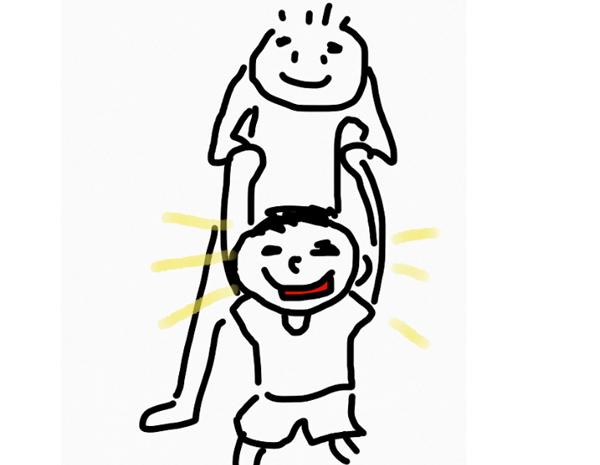 子供と遊ぶ