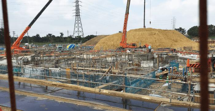 3月7日アリーナ建設1