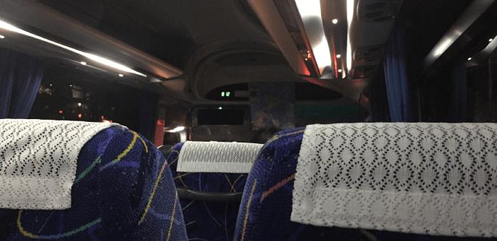 帰りのシャトルバス